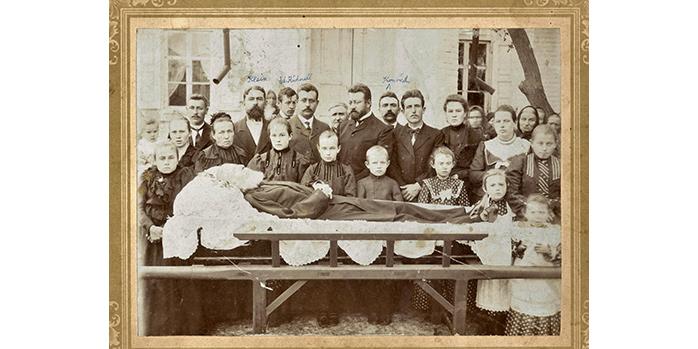 Foto Begräbnis Urgroßvater Miller